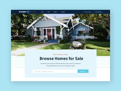 Sturdy Real Estate Website real estate website design design graphic design