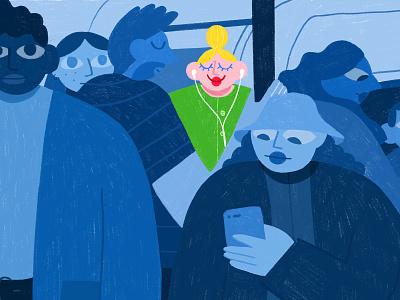 Subway happiness monochromatic monochrome happy happiness subway illustrator graphism draw drawing drawings colors artist art illustration