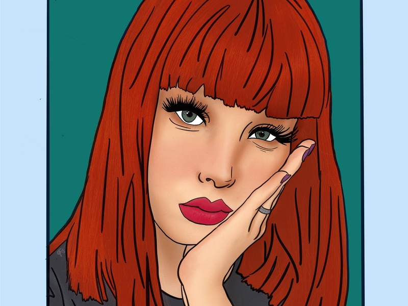 Ariel portrait art digital portrait digital art digital design