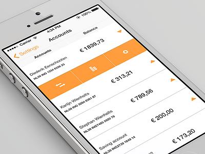 Banking app banking app ios7 application orange