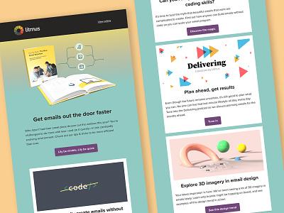 The Litmus September newsletter - light & dark layout design dark mode newsletter marketing email marketing email design email