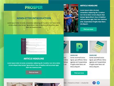 Prosper email newsletter refugee template marketing organisation newsletter email