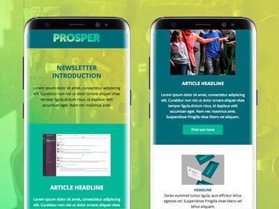 Prosper email newsletter - mobile refugee template marketing organisation newsletter email