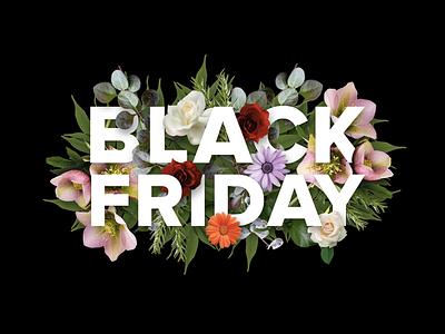 Black Friday Concept typogaphy sale montage design