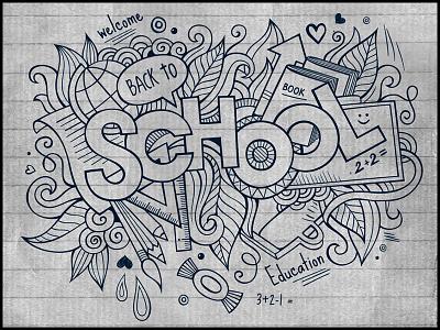 School doodles elements art doodles hand drawn school paper sketch sketchbook graphics