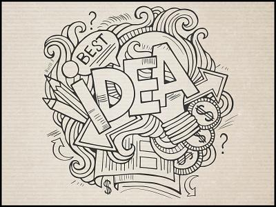 Idea doodles idea hand drawn best elements art sketch graphics lettering paper sketchbook