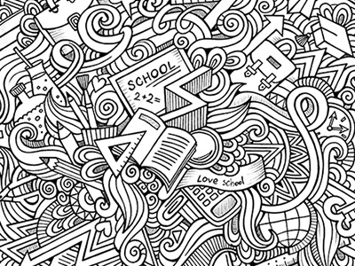 School doodles doodles hand drawn school elements art sketch graphics education children objects paper sketchbook