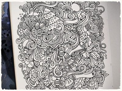 New Year and Christmas Doodles art doodles hand drawn new year paper sketch graphics christmas winter holiday cartoon happy