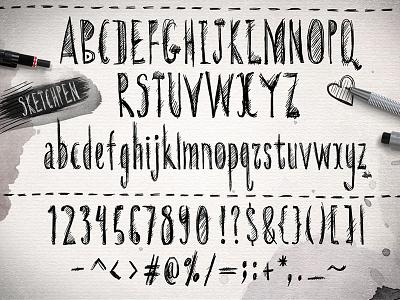 Sketchpen Typeface design pen elements art hand drawn extras sketch type typeface font hand lettering letters