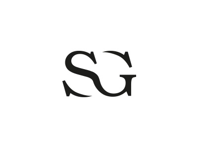 SG sketch letter logo typography typo logo sg