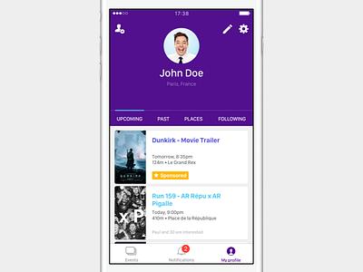 WINGiT • My profile page interface ui ux clean ios mobile app wingit tab profile