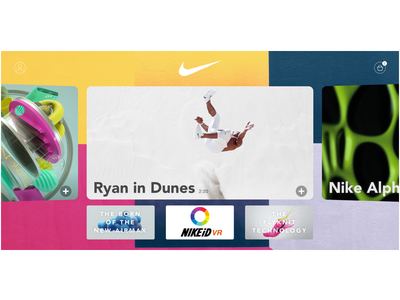 Nike Content VR Platform platform reality virtual vr content nike ux ui interface user