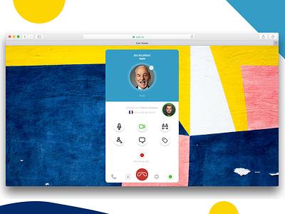 Call aircall skype phone web browser safari desktop interface ux ui call saas
