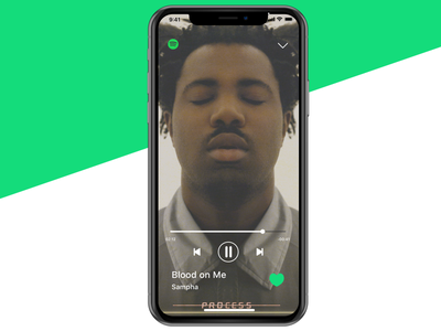 Music App • Full player sampha album iphonex iphone interface ui ux music app streaming cover player