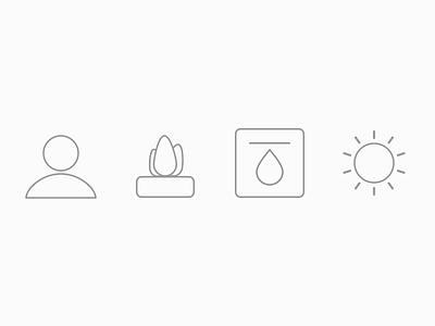 Mobile App Icons app icon sun plant plot flower icons
