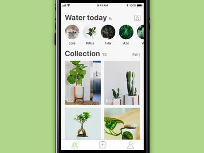 Plant App • Homepage design ux ui ios app flower nature image plant collection stories homepage