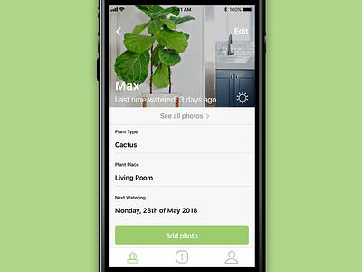 Plant App • Plant detal icons design ux ui ios app flower nature plants plant detail