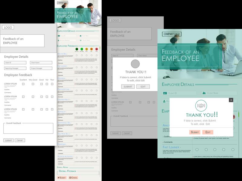 Feedback page design.... with Framework ui