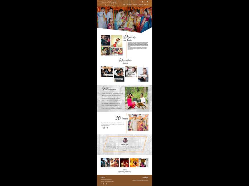 UI design o a Sample Photography Website ui