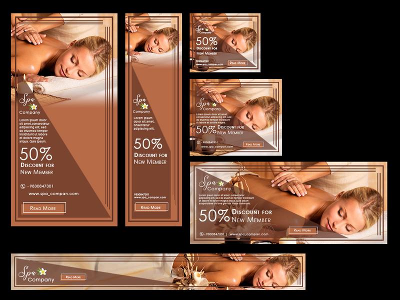 Spa Web Banner sample branding illustration