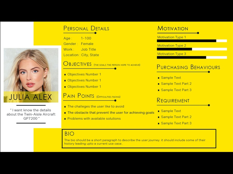 Sample Persona for a Client ui design