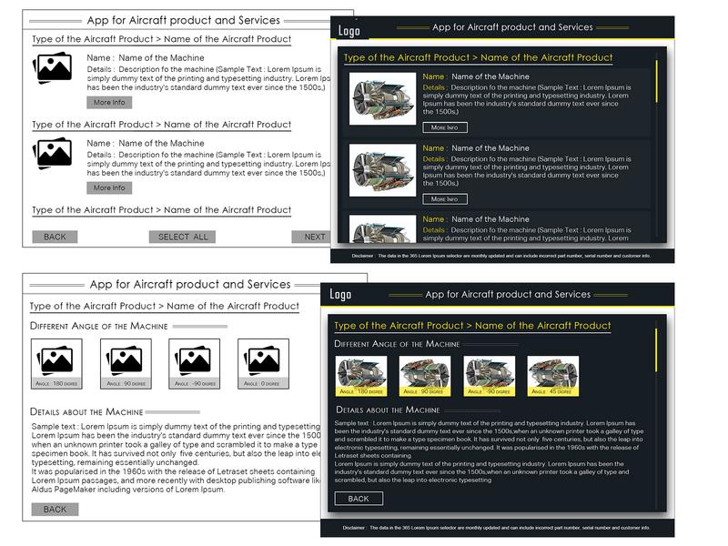 Wire frame and design for Mining Instrument application ux design illustration