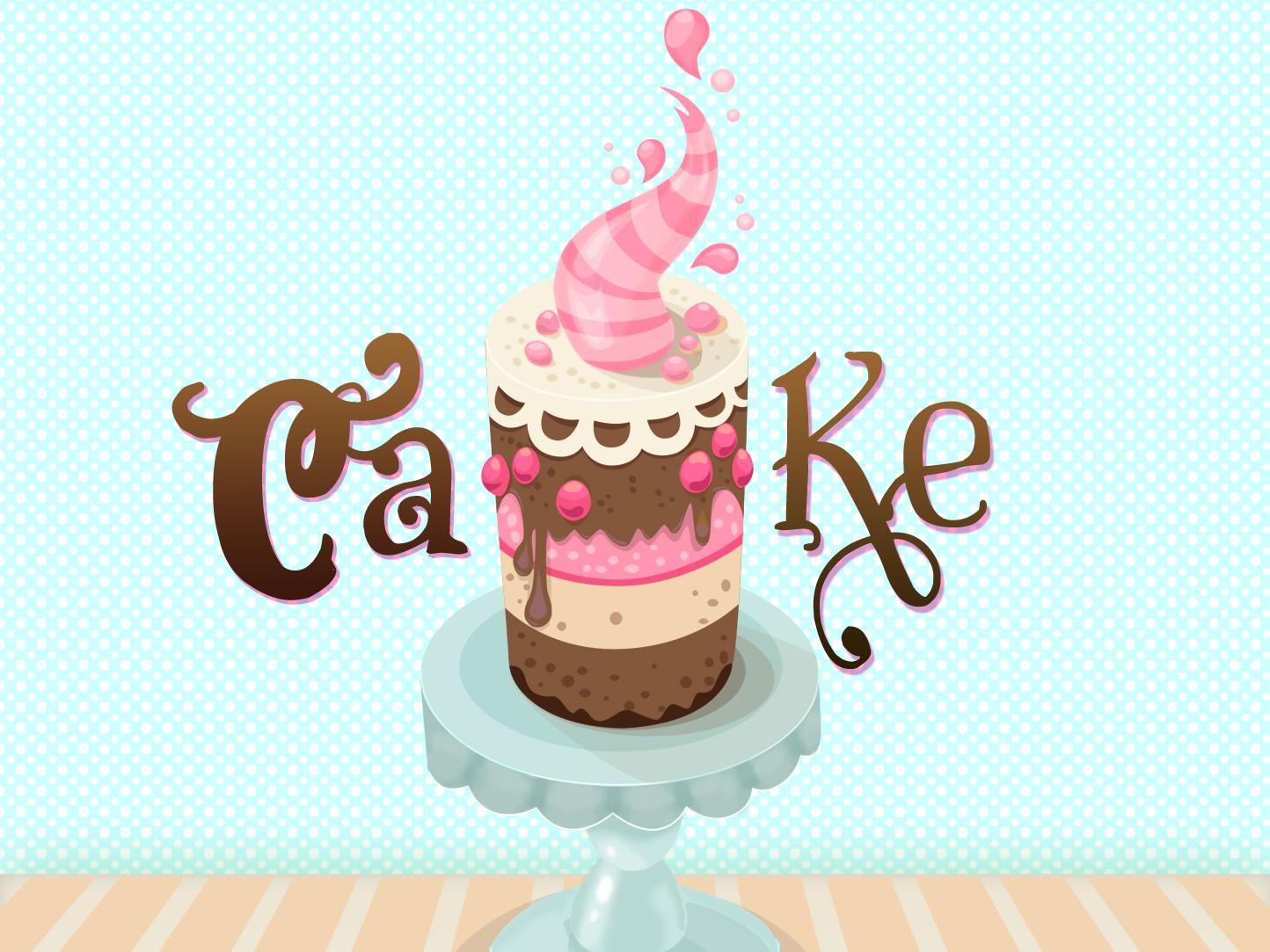 Colorful Cake Illustration illustration