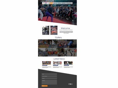"""Happy Street"" Event Website Template"