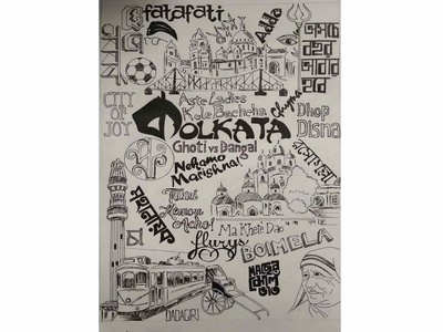 Kolkata Doodle