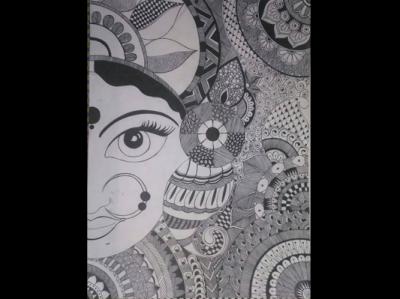 Goddess Durga Doodle