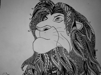 Lion King Doodle