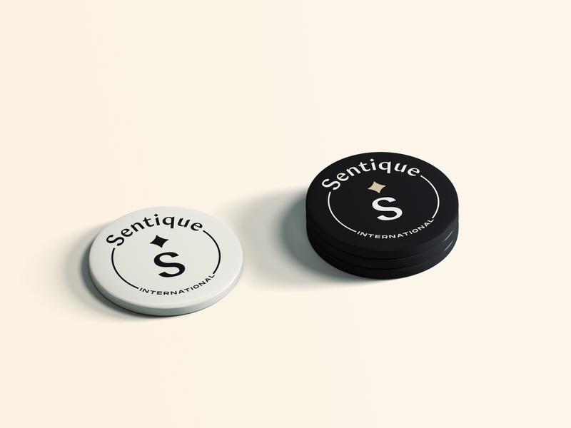 Sentique | Pins brand assets pins brand identity graphicdesigner logodesigner graphicdesign gold star stylish bold feminine cosmetics beauty logo typography branding elegant icon