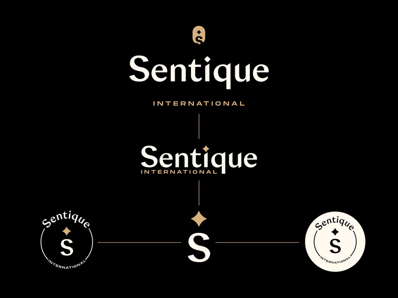 Sentique | Brand ID System beauty gold star elegant feminine stylish cosmetics icon badge graphicdesigner logodesigner typography corporate identity brand identity branding logo identity system versatile brandguidelines brand assets