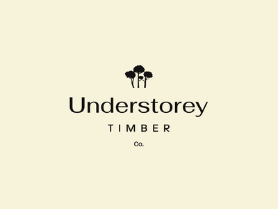 Understorey Timber Co startup nature logomark mark brand identity identity brand wood trees icon logo branding