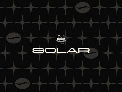 Solar | Primary Logo solar bean stars coffee bean cafe space star illustrator logodesigner typography mark icon logo pattern coffee shop coffee brand brand identity identity branding