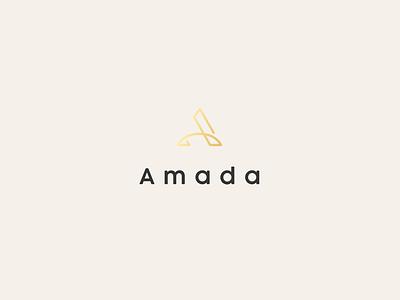 Amada Logo sophisticated women jewelry elegant luxury modern minimalist minimal simple gradient gold graphic designer lettermark mark letter a logo design logo