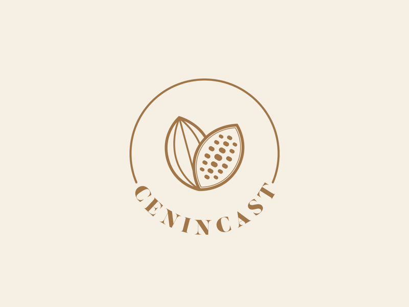 CENINCAST - Logo simple elegant modern minimal minimalist graphic designer designer branding brand typography type mark luxury cocoa cacao icon center logo design logotype logo