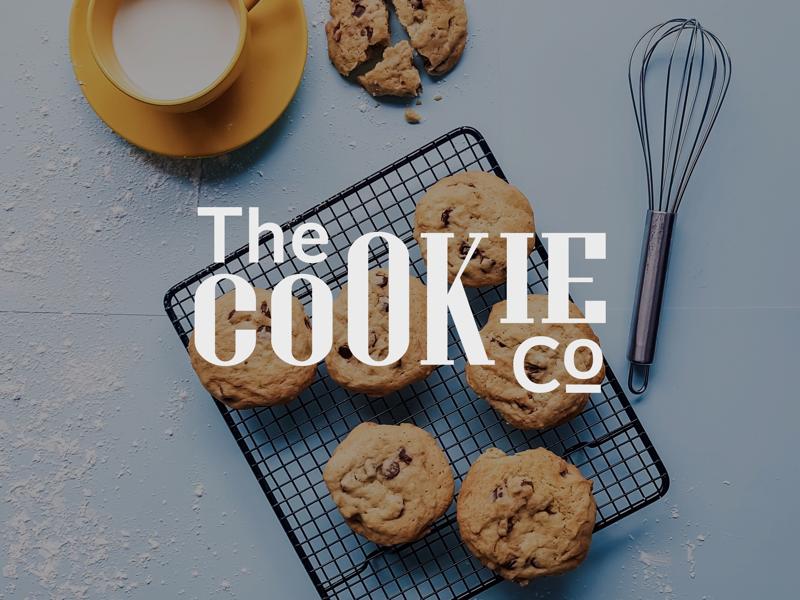 The Cookie Co. - Logo minimalist elegant luxury typography adobe color creative vector photoshop illustrator blue icon brand logo logodesigner graphicdesigner graphicdesign designer graphic design