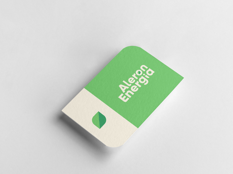 Alegron Energia | B-Card Design minimalist elegant luxury typography adobe color creative vector photoshop illustrator green icon brand logo logodesigner graphicdesigner graphicdesign designer graphic design
