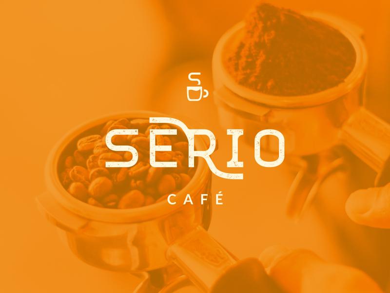 SERIO CAFÉ | Visual Identity icon mark premium coffeecup cup distressed logodesign typography logotype logo branding visualidentity brandidentity italian coffee cafe barista