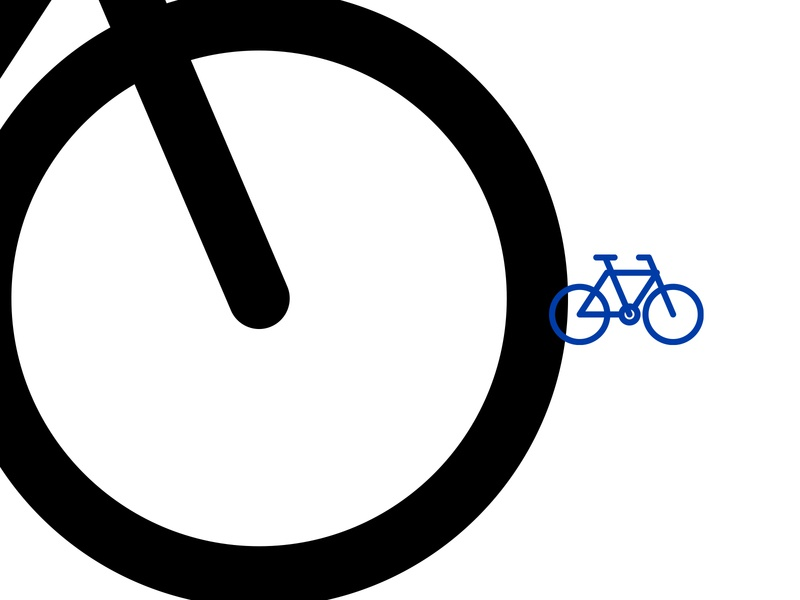Bike icon environmental design illustrator sports vector icon wayfinding sign