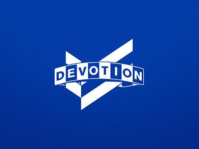 Devotion Scarf mark one-color logo sports vector illustrator