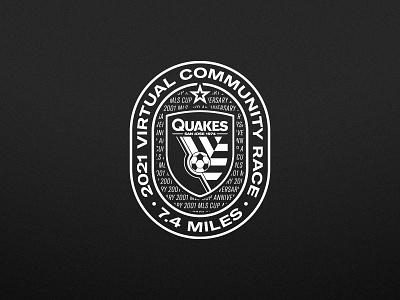 Community Race logo charity event typography one color branding logo san jose sports vector illustrator