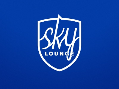 Sky Lounge logo branding one color logo bay area typography san jose sports vector illustrator