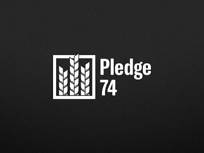 Pledge74 logo branding logo bay area typography san jose sports vector illustrator