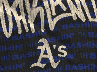 Vamos Oakland A's wallpaper illustrator photoshop bay area san jose oakland athletics sports social media vector handwriting