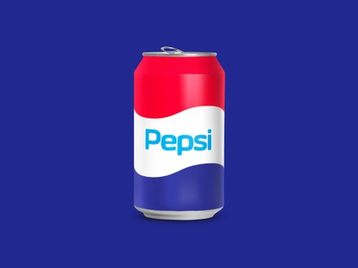 Pepsi Redesign blue logotype simple branding retro packaging can soda