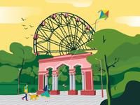 Illustration Series for alone Bishkek city