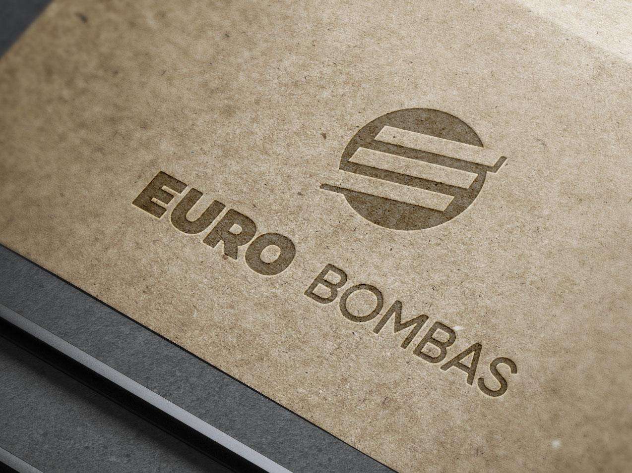 Logo for EURO BOMBAS. art brand ui ux illustrator animation typography poster design lettering vector promotional design minimal logo icon flat illustration identity design clean branding