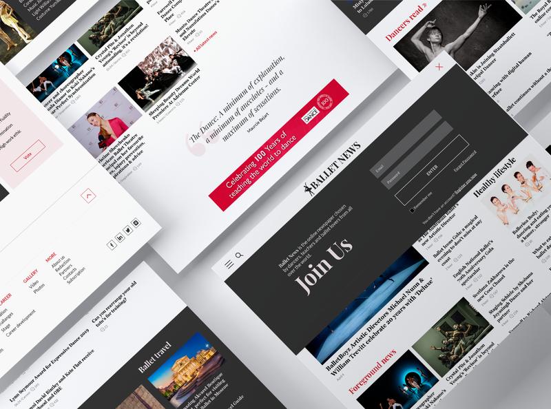 Ballet News - newspaper adobexd webdesigner study case project art @design newspaperonline website @uiux @webdesign @prototyping @ui